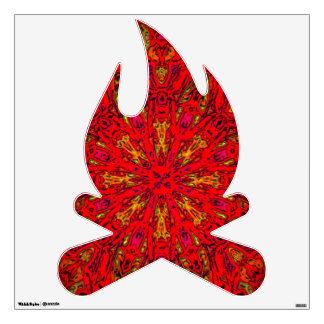 FIRE Element Kaleido Pattern campfire wall decal