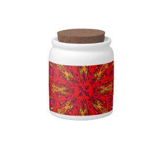 FIRE Element Kaleido Pattern Candy Jars