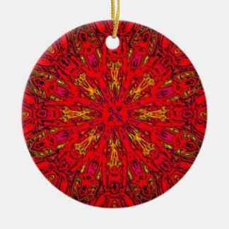 FIRE Element Kaleido Pattern Ceramic Ornament