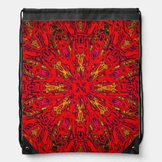 FIRE Element Kaleido Pattern Drawstring Bags