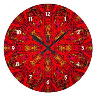 FIRE Element Kaleido Pattern Large Clock