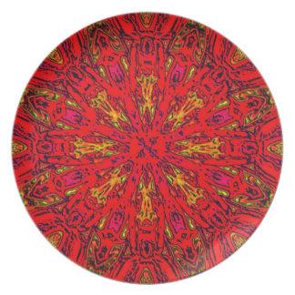 FIRE Element Kaleido Pattern Melamine Plate