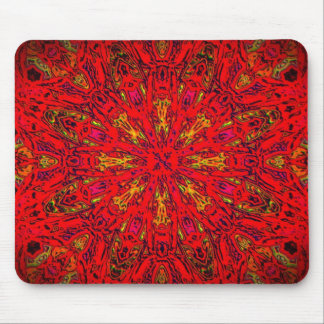 FIRE Element Kaleido Pattern Mouse Pad