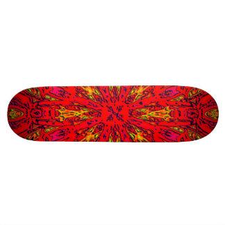 FIRE Element Kaleido Pattern Skateboard