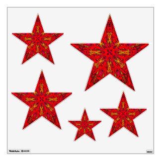 FIRE Element Kaleido Pattern stars wall decal