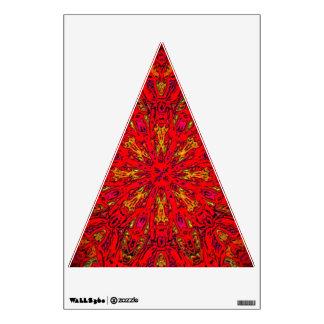 FIRE Element Kaleido Pattern triangle wall decal