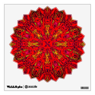 FIRE Element Kaleido Pattern Wall Sticker