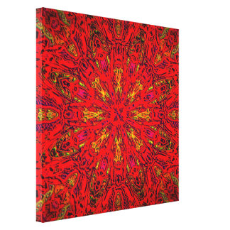 FIRE Element Kaleido Pattern wrapped canvas print