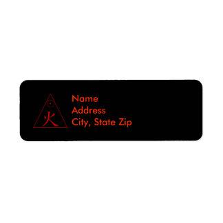 Fire Element Label