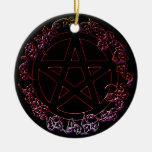 Fire Element Pagan Pentacle Ornament