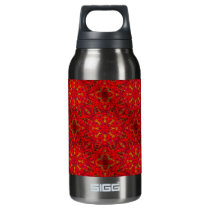 FIRE Element Tiled Kaleido Pattern Insulated Water Bottle