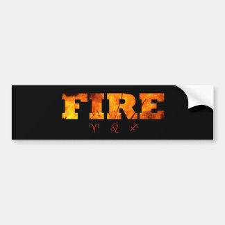 Fire Element with Zodiac Signs Bumper Stickers