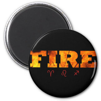 Fire Element with Zodiac Signs Magnet