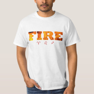 Fire Element with Zodiac Signs T-Shirt