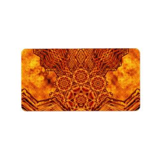 Fire Elemental Label