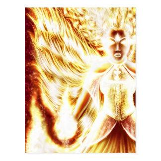 Fire Elemental postcard by Nellis Eketorp