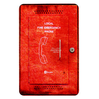 Fire emergency phone rectangular photo magnet