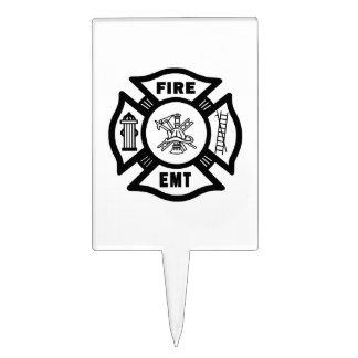 Fire EMT Cake Topper