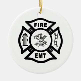 FIRE EMT CERAMIC ORNAMENT
