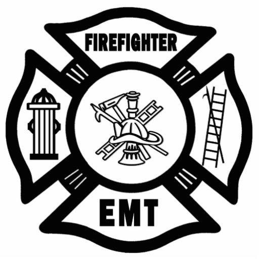Fire EMT Photo Sculpture Ornament