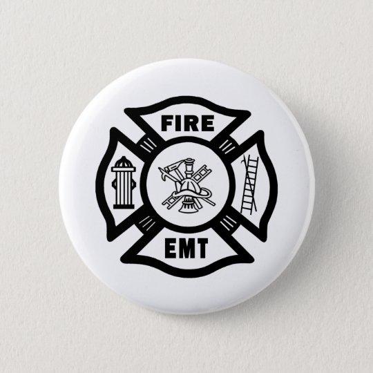 FIRE EMT PINBACK BUTTON