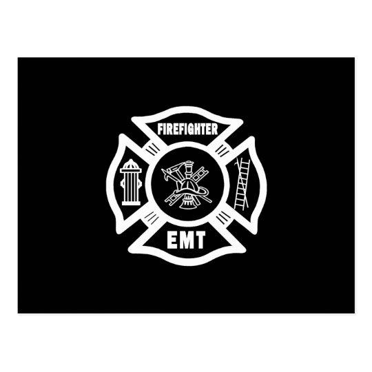 Fire EMT Postcard