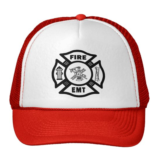 FIRE EMT TRUCKER HAT