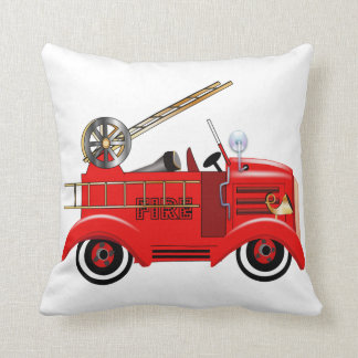"Fire Engine ""add your own Name"" Throw Pillow"