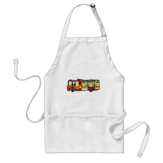 Fire Engine Adult Apron