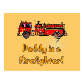 Fire Engine Daddy Firefighter T-shirts and Gifts Postcard