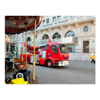 Fire engine deployed postcard