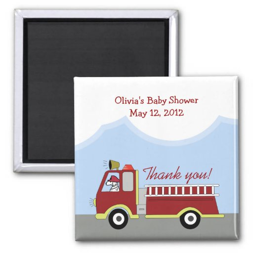 Fire Engine Fire Truck Customized Favor Magnet