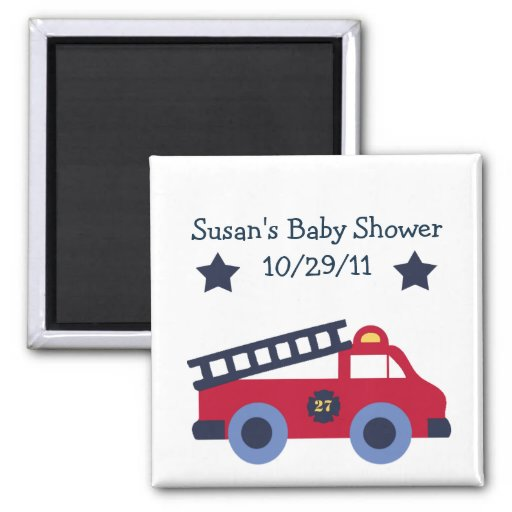 Fire Engine/Fire Truck Magnet/Keepsake/Party Favor Magnet