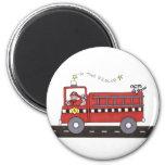 Fire Engine Fridge Magnet