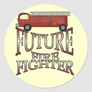 Fire Engine Future Firefighter T-shirts and Gifts Classic Round Sticker