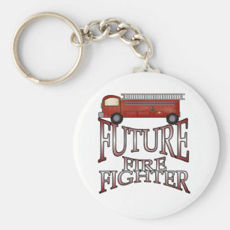 Fire Engine Future Firefighter T-shirts and Gifts Keychain