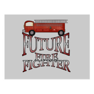Fire Engine Future Firefighter T-shirts and Gifts Postcard