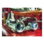 Fire Engine Horns and Bell Custom Invitation