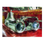 Fire Engine Horns and Bell Post Card