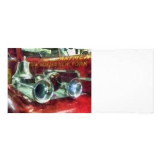 Fire Engine Horns and Bell Rack Card