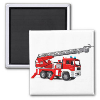 Fire Engine image for 2 Inch Square Magnet