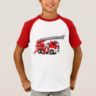 Fire Engine image for boy's-t-shirt T-Shirt