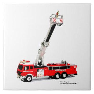 Fire Engine image for Large-Ceramic-Photo-Tile Tile