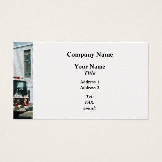 Fire Engine in Front of Fire Station  - Platinum Business Card