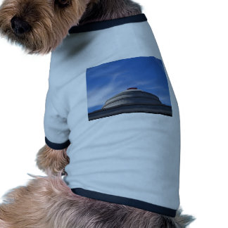 Fire Engine on top of building Doggie T-shirt