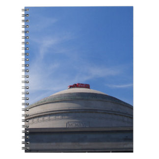 Fire Engine on top of building Notebook