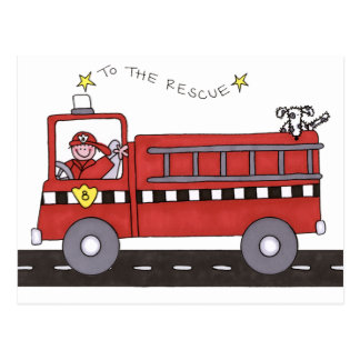 Fire Engine Post Cards