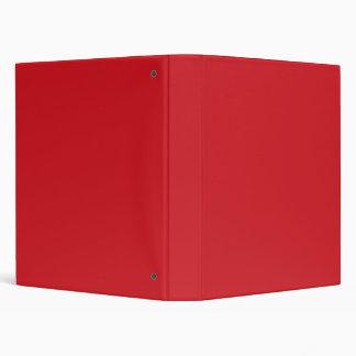 Fire Engine Red color Vinyl Binder