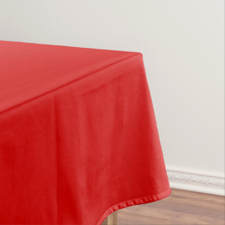 Fire Engine Red Cotton Tablecloth Template