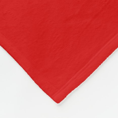 Fire Engine Red Fleece Blanket